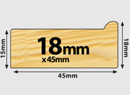 Regular UK Stretcher Bars - 18mm