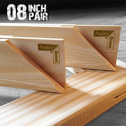 8 inch 18mm Canvas Pine Stretcher Bars