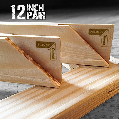 12 inch Canvas Pine Stretcher Bars