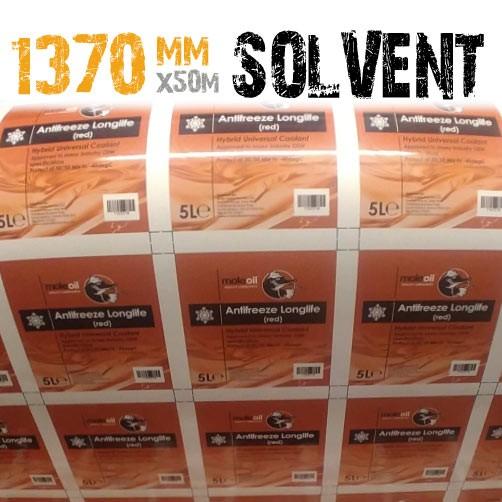 1370mm Solvent Permanent White Gloss Vinyl 50m