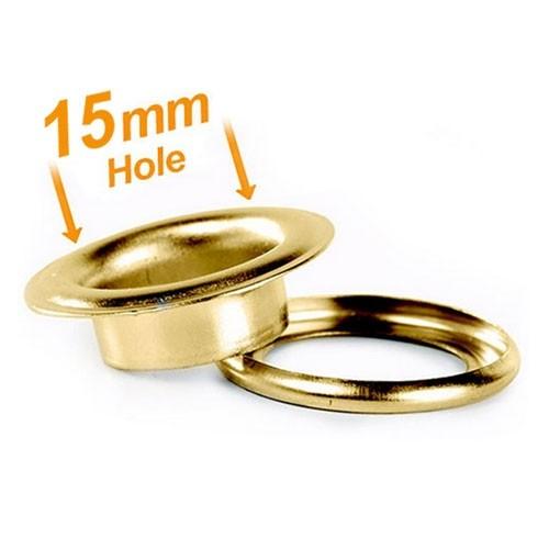 15mm Banner Eyelets Brass