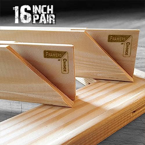16 inch 18mm Canvas Pine Stretcher Bar