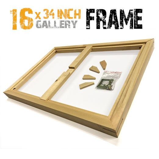 16x34 canvas frame