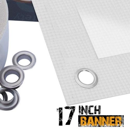 "17"" Inkjet Scrim PVC Banner - 440gsm"