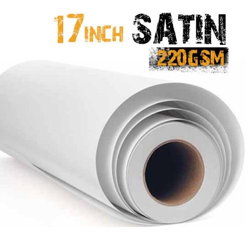"17"" Inkjet Satin Photo Paper 220gsm"