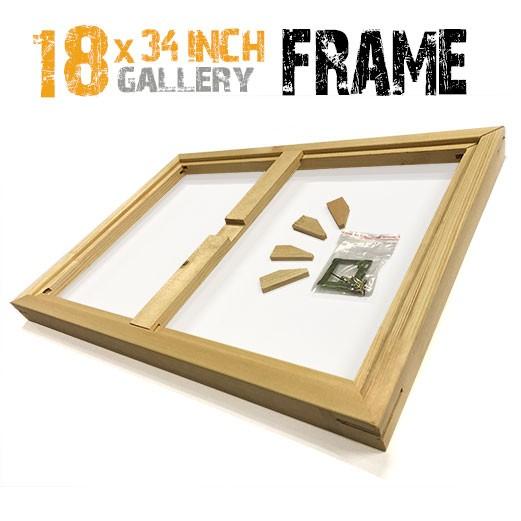 18x34 canvas frame