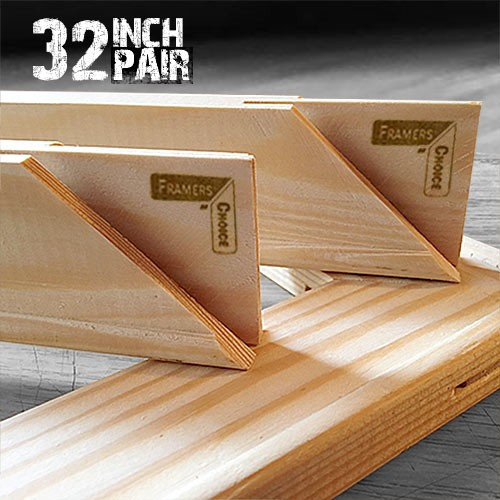 32 inch Canvas Pair of Stretcher Bars