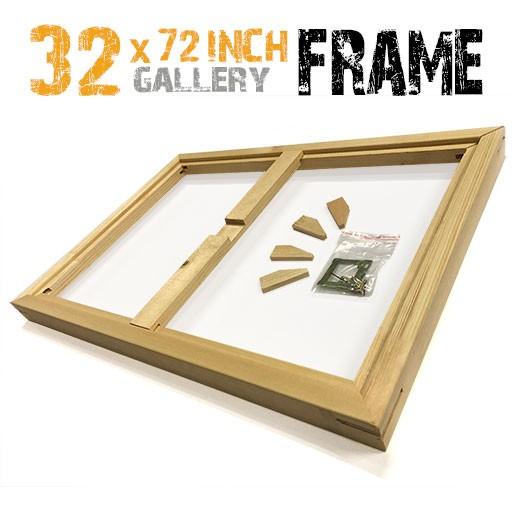 32x72 canvas frame