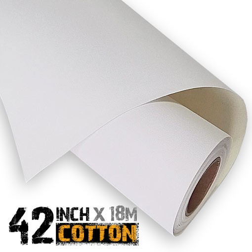 42 inch Inkjet 100% Cotton Canvas Roll 18m - 340gsm