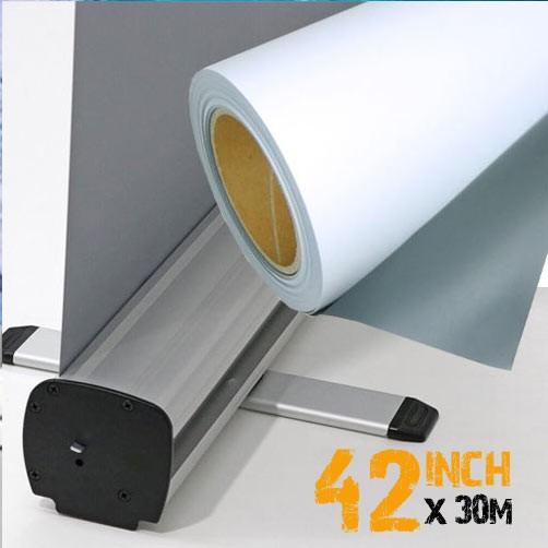 """42"""" Inkjet Roller Banner Film - Frontlit Grey Back P.E.T 135mic"""