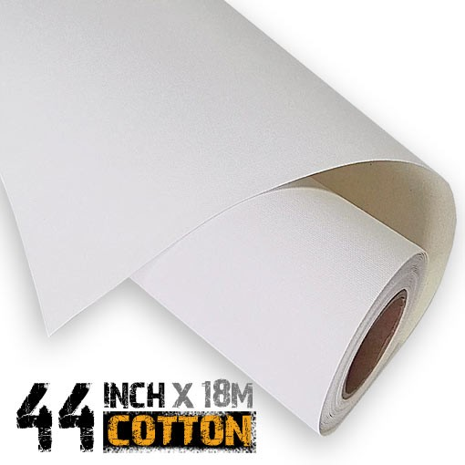 44 inch Inkjet 100% Cotton Canvas Media 18m - 340gsm