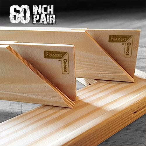 60 inch Canvas Pair of Stretcher Bars