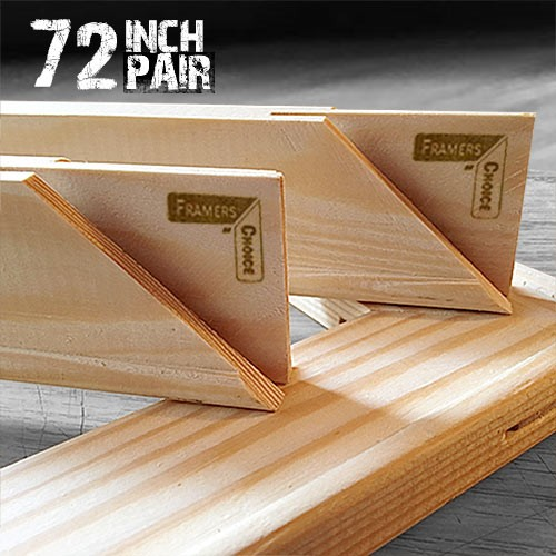 72 inch Canvas Pair of Stretcher Bars