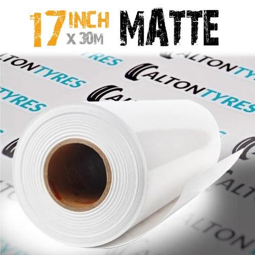"17"" self adhesive white vinyl roll"