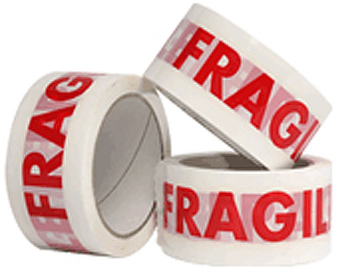 Fragile Packing Tape 48mm x 60m - 12 Rolls