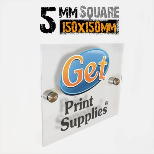 Square 5mm Acrylic Panel with 2 Standoffs