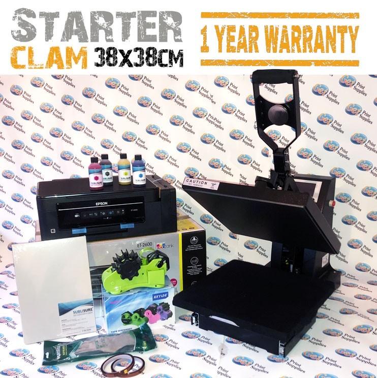 Clam heat press kit small