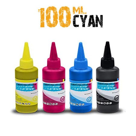 Cyan Sublimation bottle 100ml for ricoh printers