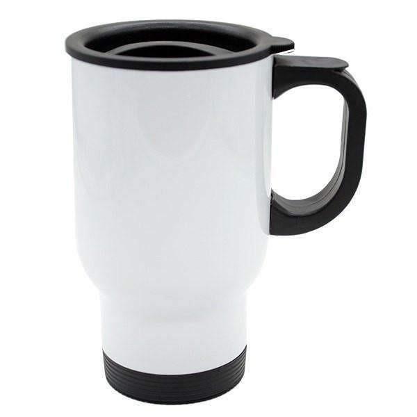 14oz White Sublimation Travel Mug