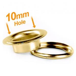 10mm Brass Banner Eyelets - Pack 500