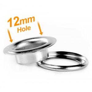 12mm Chrome Banner Eyelets - Pack 500