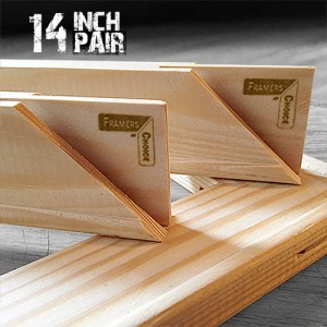 14 inch Regular UK Stretcher Bars - Pair