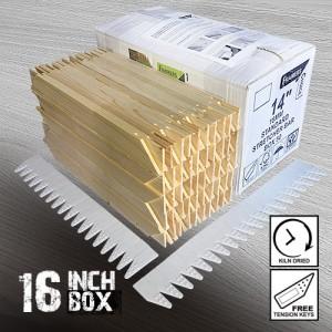 16 inch Standard Canvass Stretcher Bars - Box