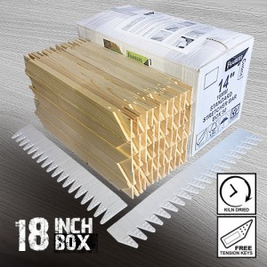 18 inch Standard Canvas Stretcher Bars - Box