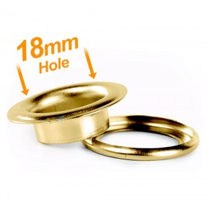 18mm Brass Banner Eyelets - Pack 500