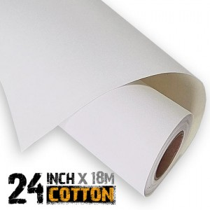 24 inch Inkjet 100% Cotton Canvas Roll 18m - 340gsm