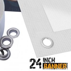 24 inch Inkjet Scrim PVC Banner Media Roll - 440gsm