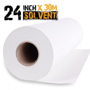 24 inch Solvent Polyester Canvas Roll 30m - 280gsm
