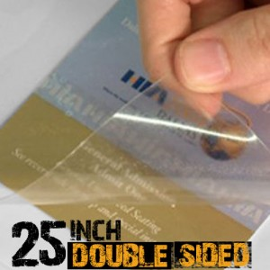25 inch Double Sided Lamination Film for Acrylic 30m