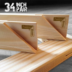 34 inch Regular UK Stretcher Bars - Pair