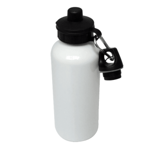600ml White Aluminium Water Bottle Blank