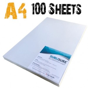 SubliSure A4 Sublimation Paper 100 Sheets