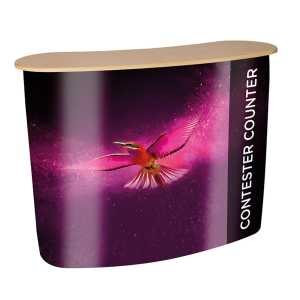 Curved Pop Up Counter for Exhibition Stand 940 x 1060mm Wide