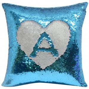 Blue Sequin Sublimation Cushion cover 40 x 40 cm