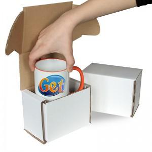 100 Smash Proof Mug Postal Gift Box - White