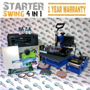 4 in 1 Swing Heat Press Starter Kit