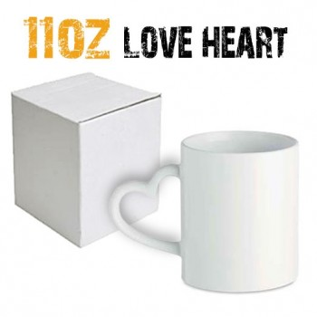 11oz Sublimation Heart Handle Mug