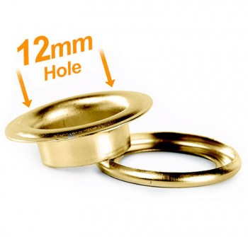 12mm Banner Eyelets Brass - Pack 500