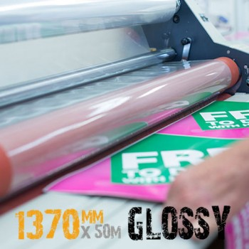 1370mm Glossy cold laminate film roll