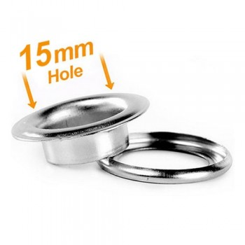 15mm Banner Eyelets Chrome