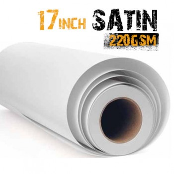 "17"" Inkjet Satin Photo Paper 220gsm"