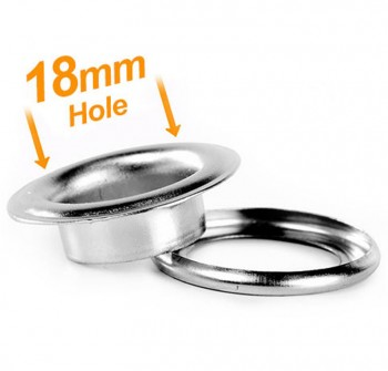 18mm Banner Eyelets Chrome - Pack 500