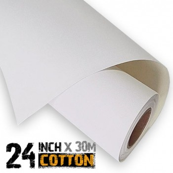 24 inch Inkjet 100% Cotton Canvas Roll 30m - 340gsm