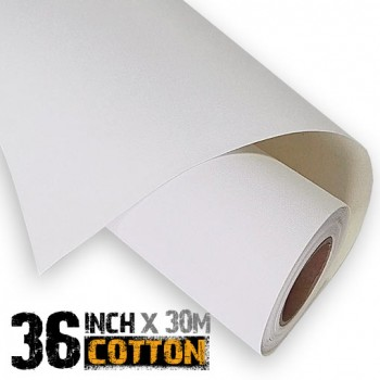 36 inch Inkjet 100% Cotton Canvas Roll 30m - 340gsm