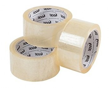 3 Inch Wide Clear Packing Tape x 66m roll - 12 Rolls