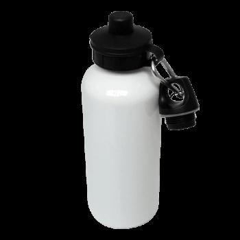 600ml White Aluminium Water Bottle Blank